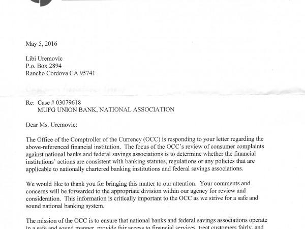 Pinkney Lied About Union Bank Regulators